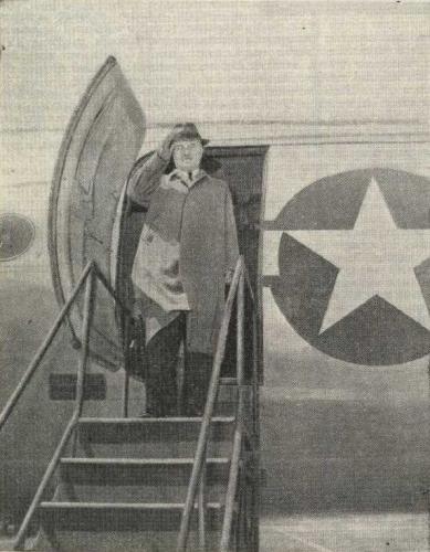 Прибытие В. М. Молотова на конференцию в Сан-Франциско. Апрель 1945