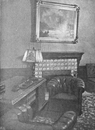 Рабочий кабинет И. В. Сталина во дворце Сесилиан-Хоф. Потсдам июль 1945