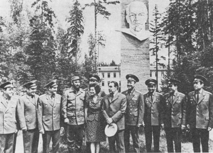 Л. И. Брежнев и Фидель Кастро Рус с советскими космонавтами