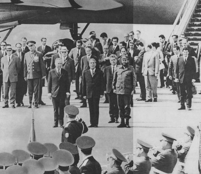 Встреча Ф. Кастро на Внуковском аэродроме. 26 июня 1972