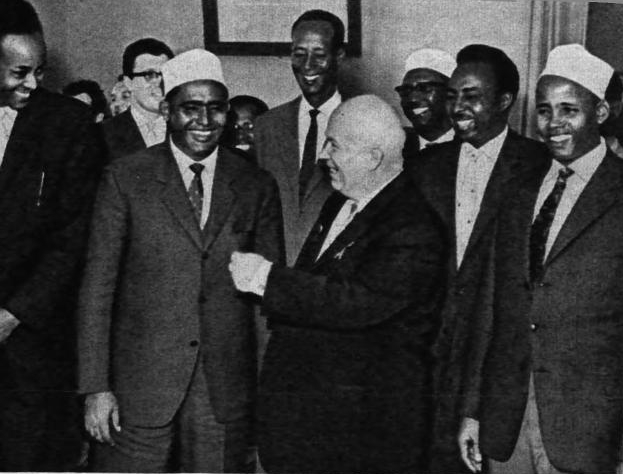 Прием Н. С. Хрущевым Абдирашида Али Шермарка, 1961