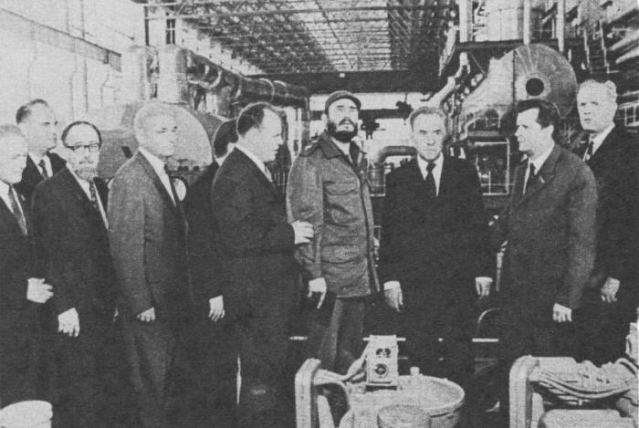 Фидель Кастро и А. Н. Косыгин на Нововоронежской АЭС