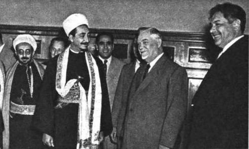 Мохамед эль-Бадр на приеме у Председателя Совета Министров СССР Н. А. Булганина