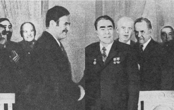 После подписания советско-сирийских документов. Москва, 13 апреля 1974
