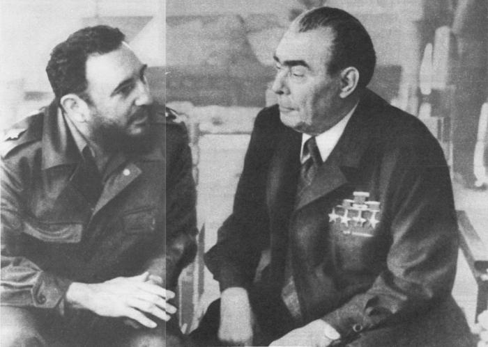 Во время беседы между Л. И. Брежневым и Фиделем Кастро Рус. Гавана, 28 января 1974