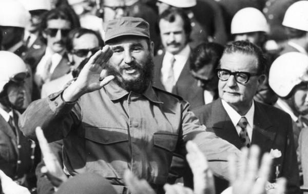 Фидель Кастро с Сальвадором Альенде. 10 ноября 1971