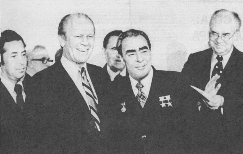 Л. И. Брежнев и Президент США Р. Никсон, 24 ноября 1974