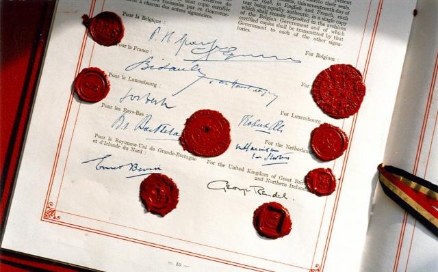 Подписи под «Брюссельским пактом» 17 марта 1948