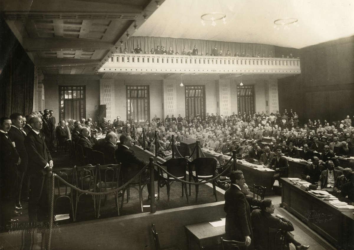 Конференция Лиги Наций во Дворце Наций в Женеве, Швейцария. 1924
