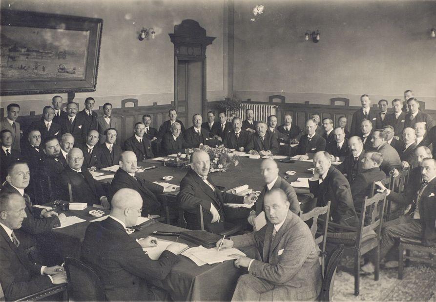 Участники Локарнской конференции. Октябрь 1925.