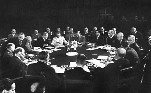 Заседание Потсдамской конференции
