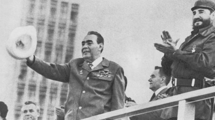 Л. И. Брежнев на митинге советско-кубинской дружбы в Гаване