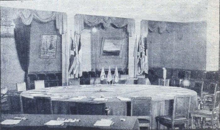 Зал где была подписана Декларацию о поражении Германии. 5 июня 1945