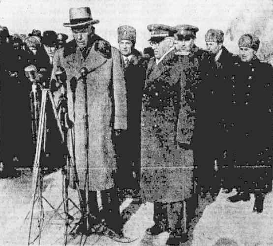 Прибытие в Москву г-на Д. Маршалла