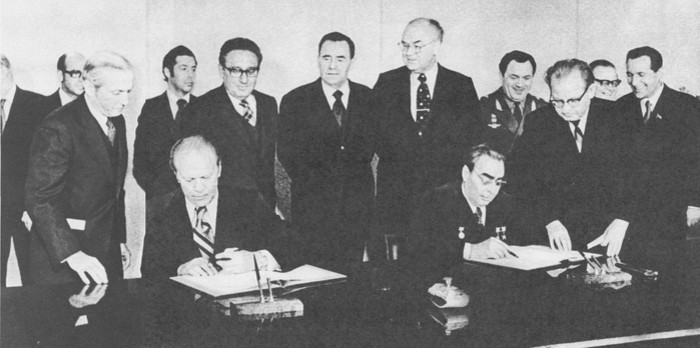 Подписание советско-американского коммюнике