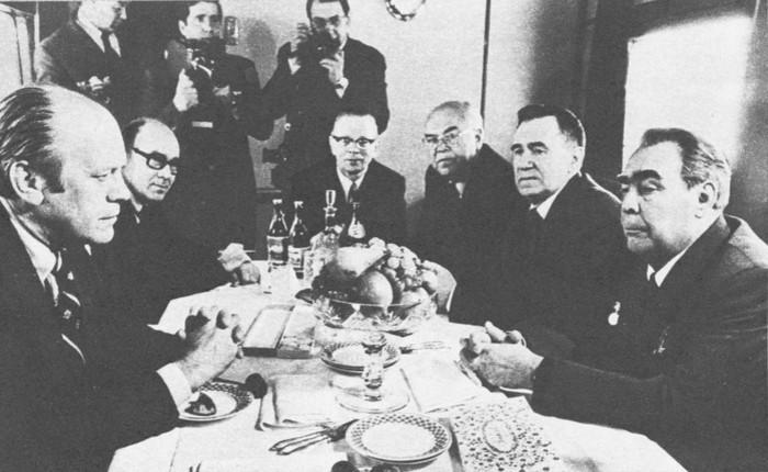 Беседа Л. И. Брежнева и Джеральда Р. Форда
