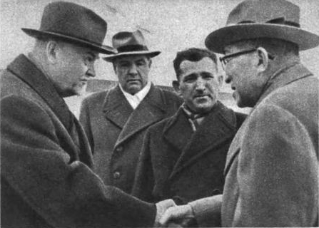 Проводы Ициро Хатояма. 20 октября 1956