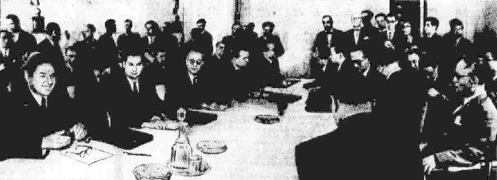 Первое заседание делегаций СССР и Японии 31 июля 1956